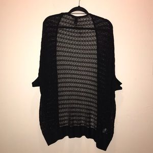 MNG suit black cocoon style cardigan